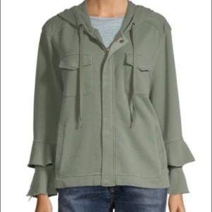 LIKE NEW Sanctuary Ruffle Hooded Zip Sweatshirt